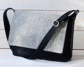 LAST ONE -Mens Canvas Messenger Bag -  Laptop Messenger Bag - Messenger Bag - Crossbody /xmas gift /gift for him/gift for her