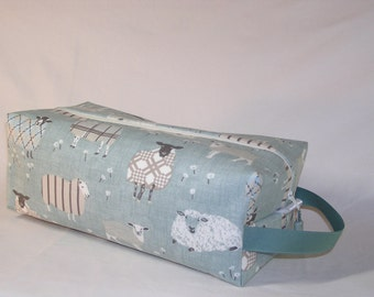PREORDER Sheep Sweaters on Duck Egg Sweater Bag - Premium Fabric