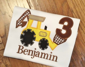 Boys Personalized Backhoe with Age