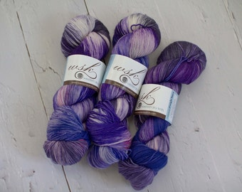 Aspen Sock yarn with nylon 'Purple Haze'