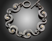Mixed Metal Swirl Bracelet