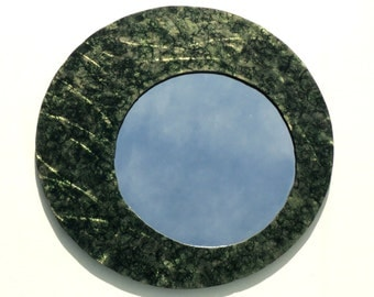 Mottled Black and Green Accent Mirror