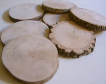 30 Tree Branch Slices 3 to 3.5 inch Coaster Size