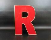 """Vintage Letter """"R"""" Reclaimed Salvage. Signage. Sign Letter."""