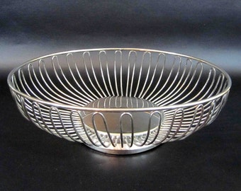 Vintage Silver Plate Wire Bowl by Godinger Silver Art Co. Circa 1970's