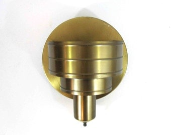 Vintage Art Deco Wall Sconce in Brass. Circa 1950's.