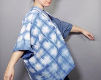 Patchwork Shibori Cotton and Linen Boxy Top