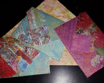 CUSTOMIZABLE ORDER Folded Origami Paper Envelopes for Party Wedding Invites Letters Receipts (Pick Your Paper & Quantity, Fast Turnaround)