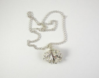 Preserved Sterling Silver Kale Leaf on Chain Necklace