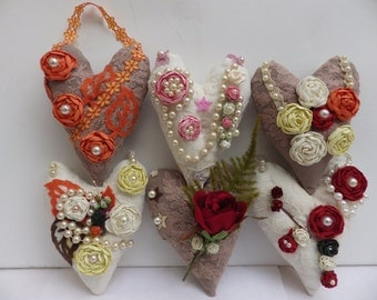 Shabby Chic Decorative Hearts