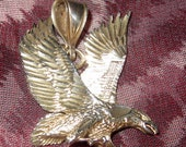 "Eagle in Flight Pendant Sterling Silver 1 1/2"" Tall"