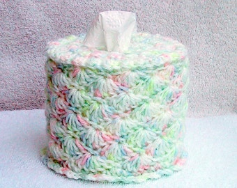 Baby Tissue Dispenser- 8 Color Choices - For Baby Diaper Changing Table - Toilet Paper Cover - Handmade Crocheted - TP Cozy - Handy Holder