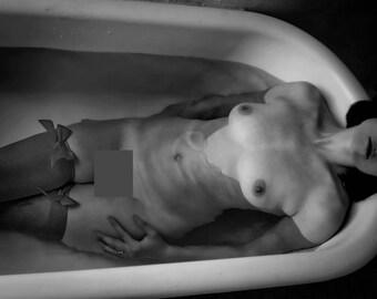 Bathing Nude Art Photo