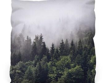 Misty Forest Throw Pillow W/ Insert