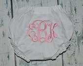 Personalized Baby BLOOMERS Diaper Cover  with initail Monogram