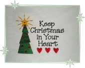 CLEARANCE SALE -Keep  CHRISTMAS Embroiderd Sweat by Rosemary