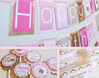 Milk and Cookies Birthday Party Decorations Package Fully Assembled