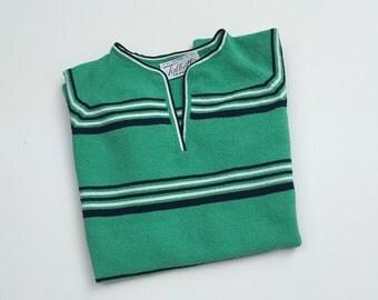 1960s Mens Vintage Hipster Striped Pullover - Hipster Costume -  Stripe Pull Over Shirt - 1960's Men's Vintage Leisure Wear - 38 Chest