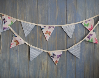 SALE..Children's Bunting // Party Bunting // Kids Decor // Baby Shower Bunting // Butterfly Bunting // Kids Party Decor // Kids Garland.