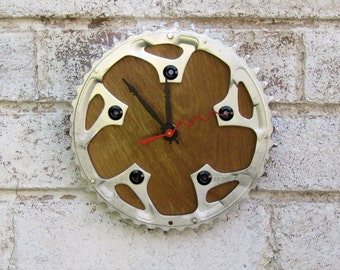 Recycled  Sugino Bicycle Chainring Wall Clock