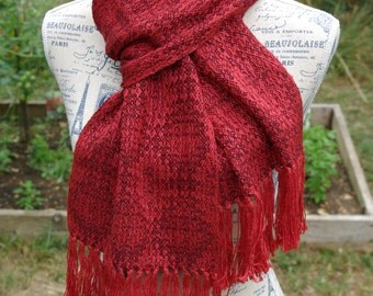 Handwoven scarf - silk and cashmere