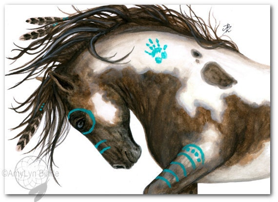 Majestic Mustang Pinto Native American Spirit Paint Horse