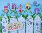 Cottage Garden Folk Art Print