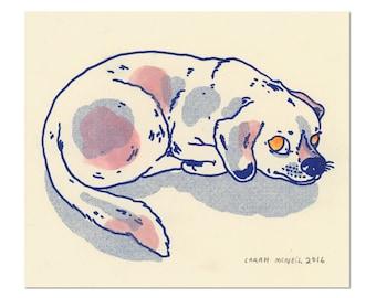 Hand painted Dog Print 08