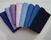 Purple - Lavender - Blue - Hand Dyed Felted Wool Fabrics Perfect for Rug Hooking and Applique Select a Size