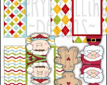 Happy Christmas Cards and Envelopes - Immediate Download