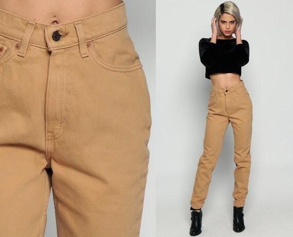 Tan Levis Jeans Denim Pants High Waist Jeans 80s Mom Jeans