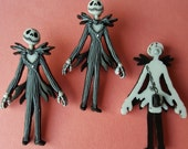 JACK SKELLINGTON Nightmare Before Christmas Halloween Disney Dress It Up Buttons