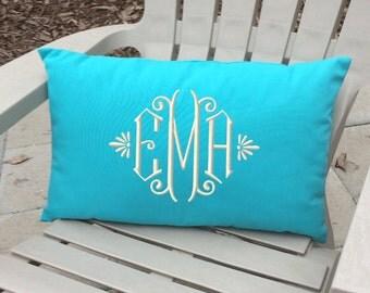 Monogrammed Outdoor Pillow