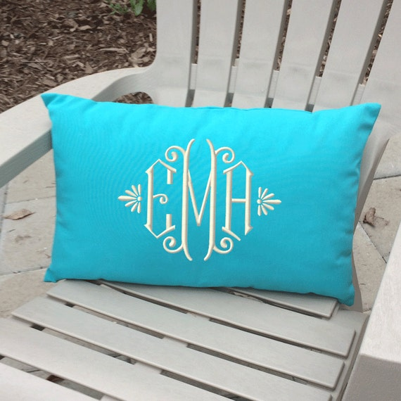 High Quality Monogrammed Outdoor Pillow