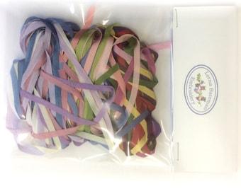 Ribbon Pack – 22 metres of 4mm silk ribbon