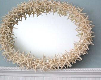 Starfish Wall Mirror, Beach Decor Starfish Mirror, Nautical Decor Seashell Wall Mirror, Coastal Decor Shell Mirror, Beach Home Decor #CMOVSF