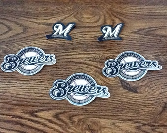 Milwaukee Brewers 5pc Fabric Iron on Patch set