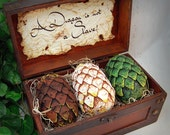 Handmade Game Of Thrones Inspried, fantasy, Dragon Chest, Mother of Dragons, gift, GOT, dragons, Hobbit, Pern LOTR W/Chest