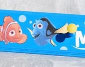 "24"" . 4 Pegs . Personalized Coat Rack . Wall Pegs . Finding Nemo . Mason"
