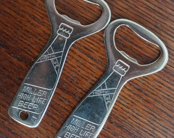 Vintage Beer Openers  Miller High Life Advertising Bottle Opener Milwaukee Wisconsin