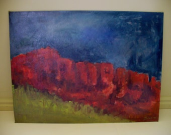 Large Painting Red Rock Art Southwestern Decor Southern Moab Utah