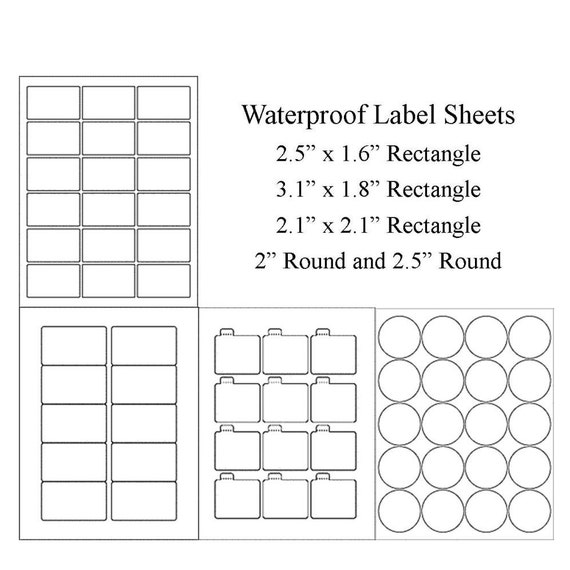 Slobbery image for printable waterproof labels