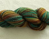 Hand spun 3 ply polworth worsted 262 yards 4 oz/114 grams