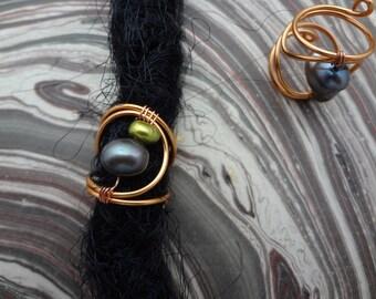 Dreadlock Wire Wrap. Dread Bead. Hair jewelry for dreadlocks. Wire and beads.
