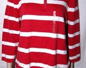 NWT 79.00 Vintage Lauren Ralph Lauren Striped Polo Shirt XL