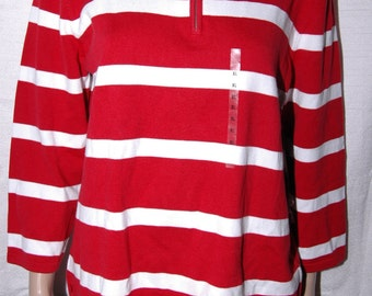 NWT 79.00 Vintage Lauren Ralph Lauren Striped Polo Shirt XL