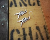zombie earrings with sterling silver ear wires