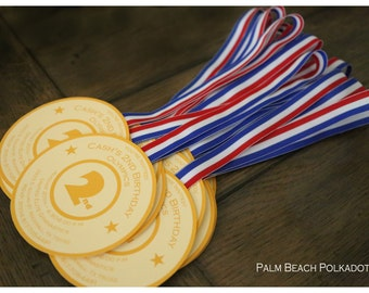 10 Gymnastics Tumbling Gold Medal Olympics inspired Birthday Party  Invitations by Palm Beach Polkadots