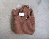 vintage 1970s brown bloomingdales fishermans rib knit sweater