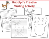 Printable Rudolph the Red Nosed Reindeer Creative Writing Activitie for Kids